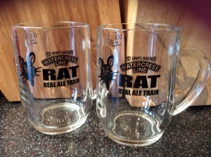 Ale train glasses